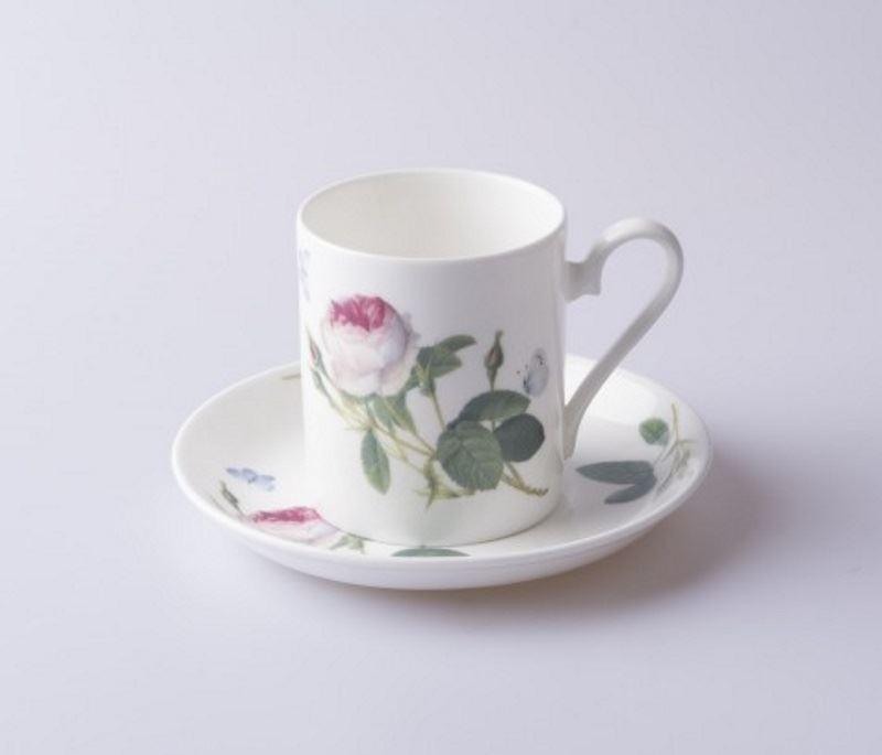 roy kirkham palast garten rose kaffee espresso tasse untertasse in feinem ebay. Black Bedroom Furniture Sets. Home Design Ideas
