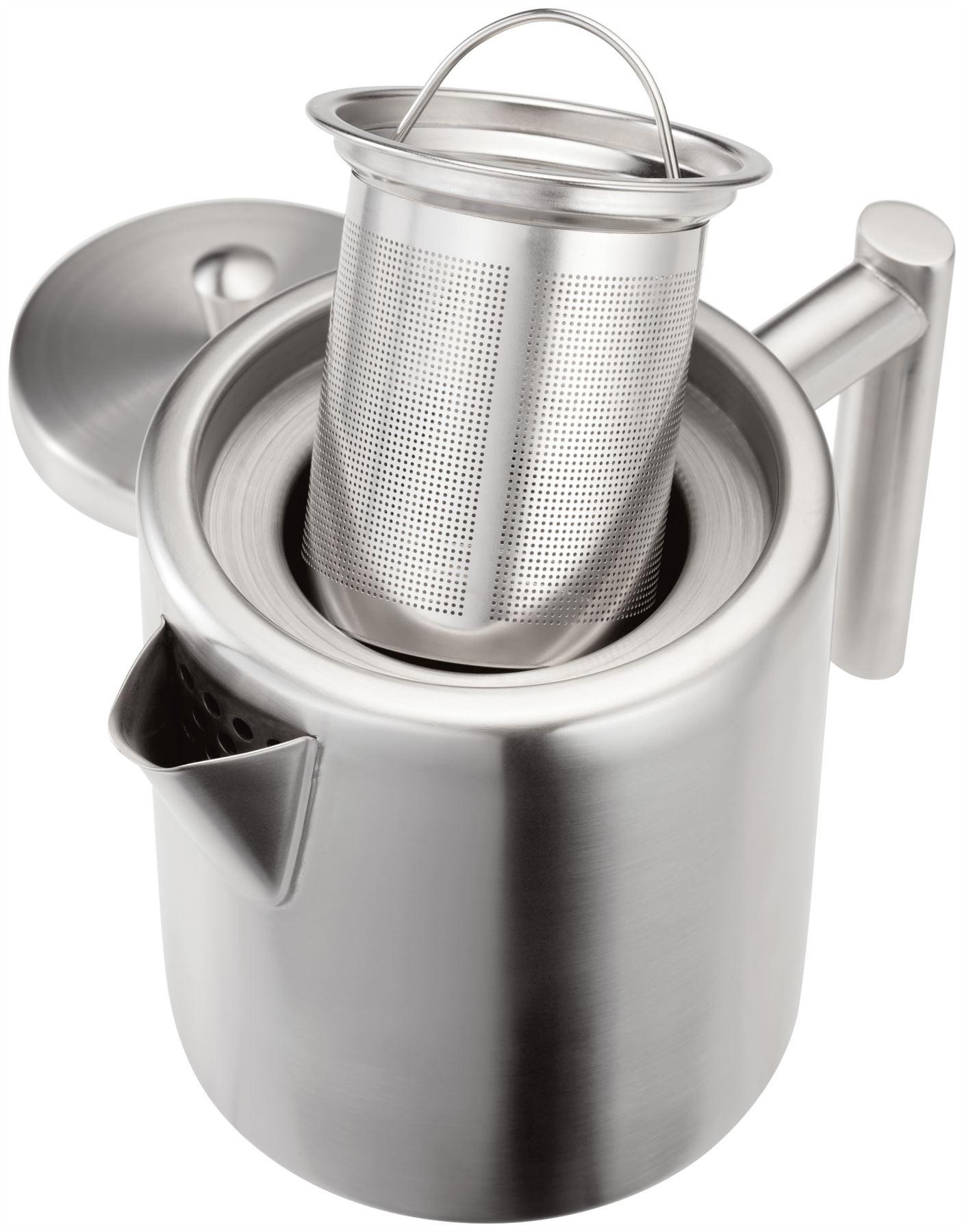 Stellar oslo teaware stainless steel 5 cup infuser teapot - Cup stainless steel teapot ...