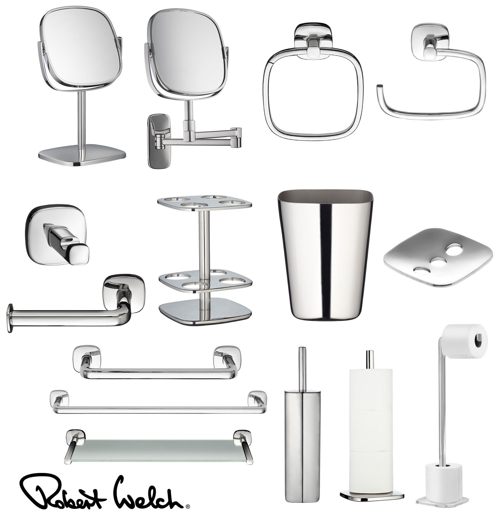 Robert Welch Burford Bathroom Range, Mirror, Towel Rail, Shelf or ...