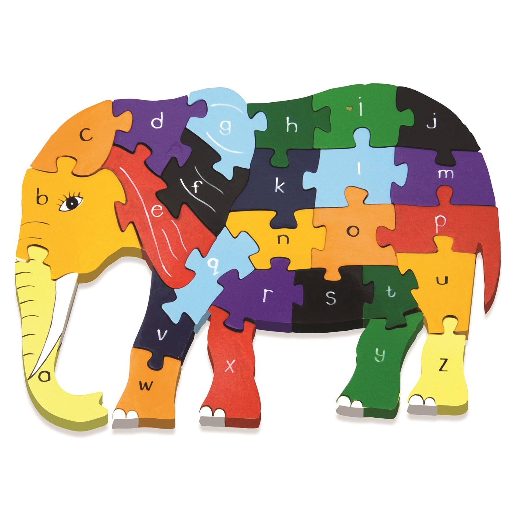Alphabet Jigsaw Wooden Animal Puzzle in Elephant/Giraffe ...