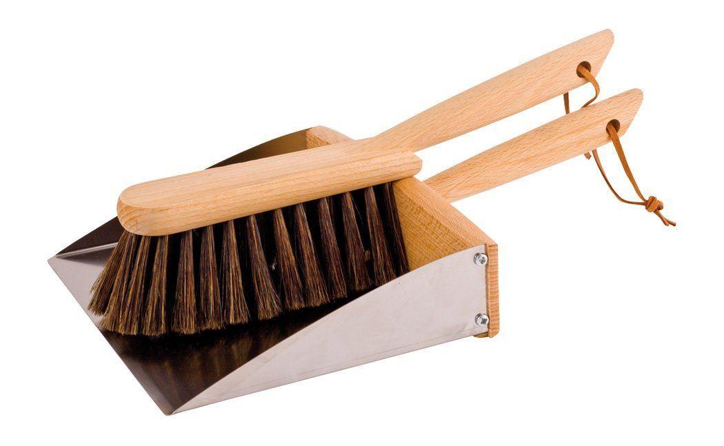 Image Is Loading Redecker Wooden Wood Sweeping Dustpan Amp Brush Set