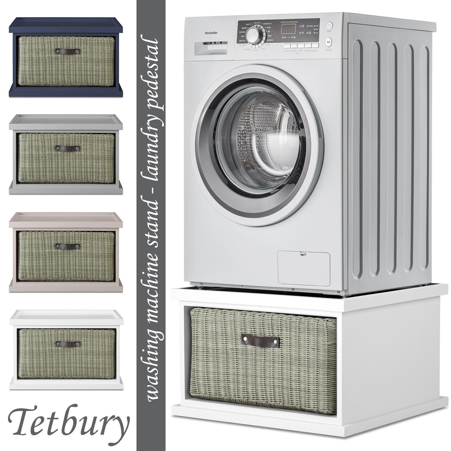 Tetbury Washing Machine Stand With Storage Dryer Pedestal With Drawer Assembled Ebay