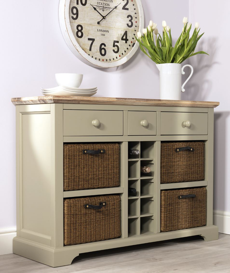 Florence Sideboard With Wine Rack Kitchen Sideboard And Storage