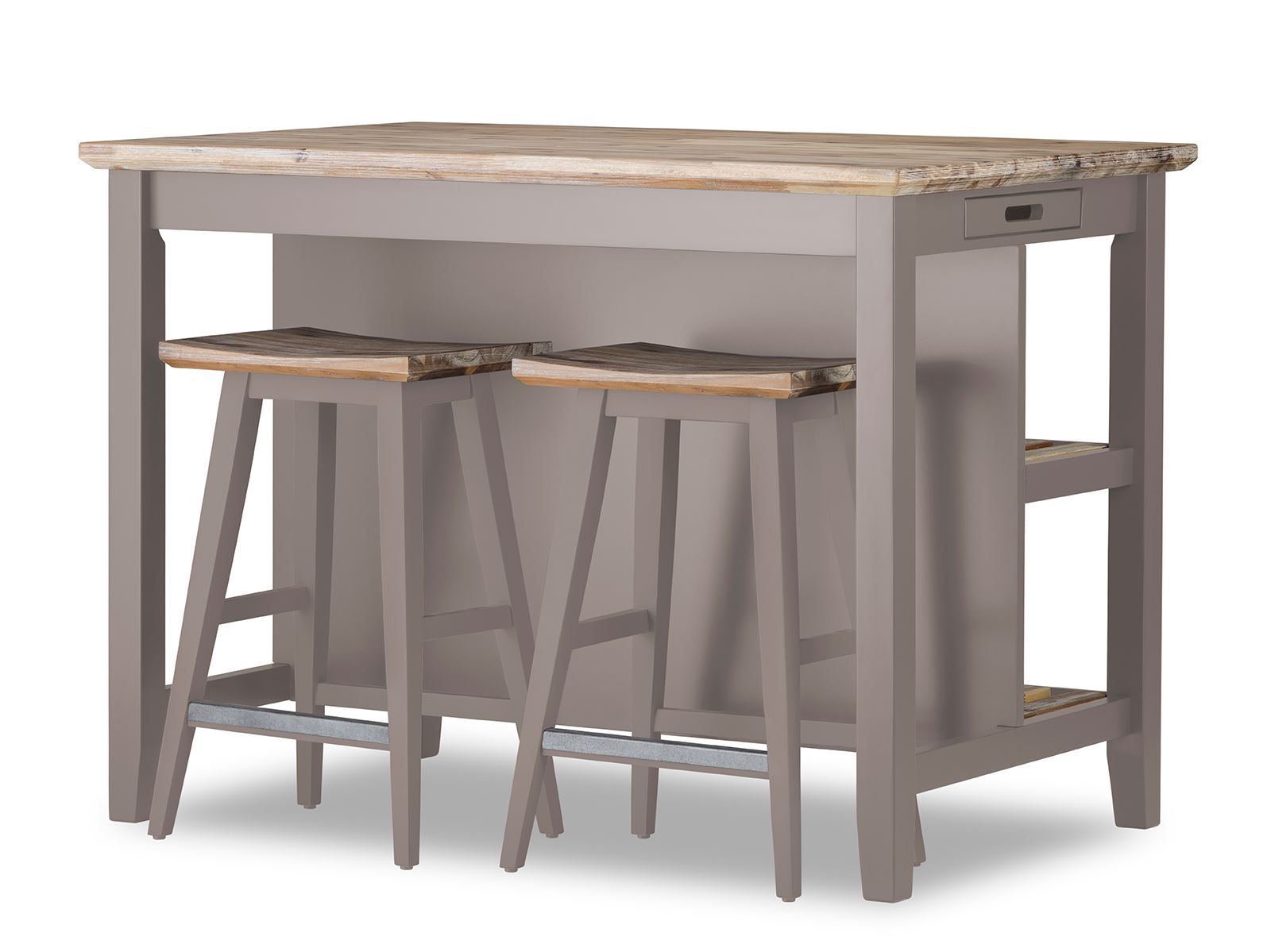 Superieur Details About Florence Breakfast Bar With 2 Large Shelves. Small Kitchen  Island With Storage.