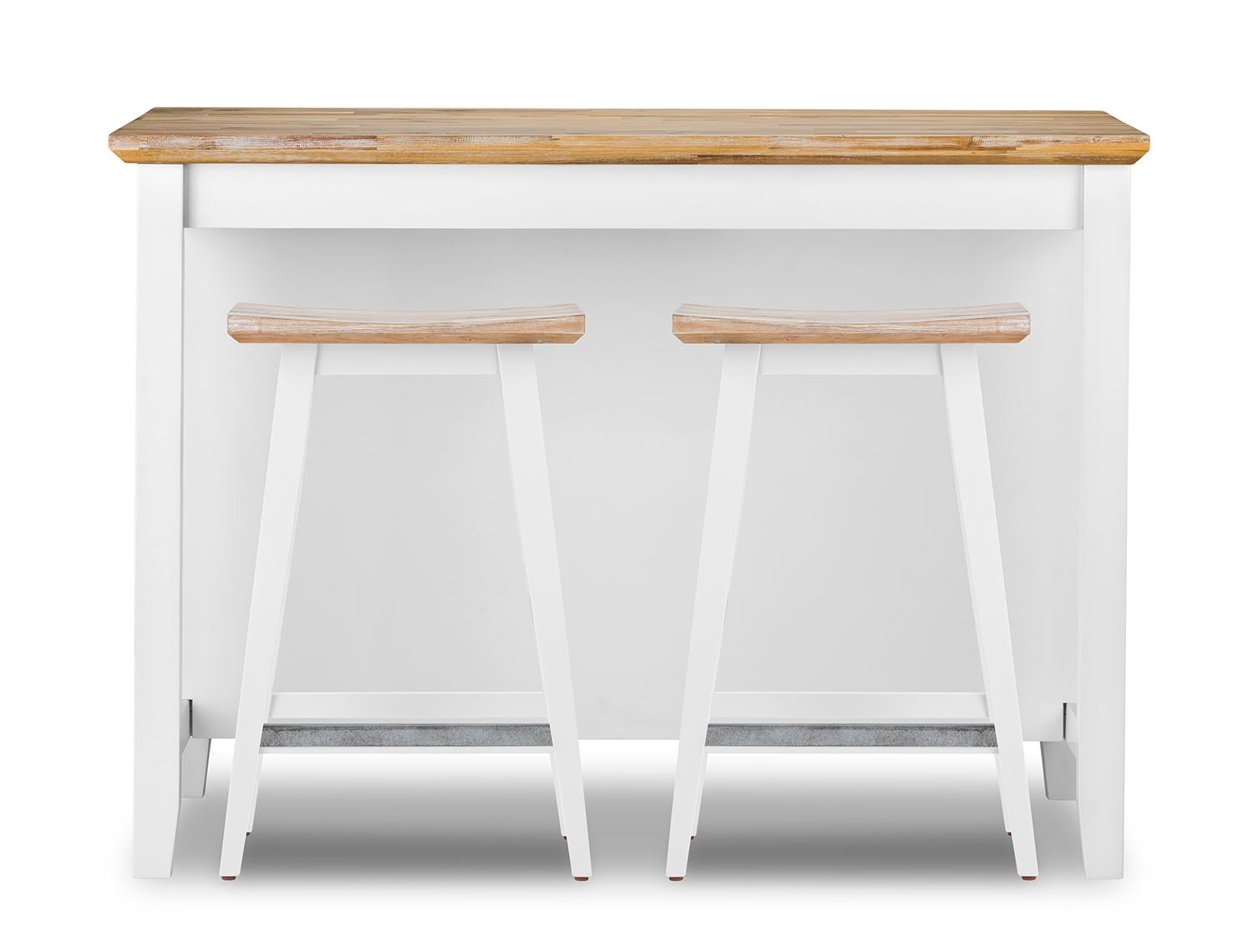 Florence Breakfast Bar With 2 Large Shelves Small Kitchen