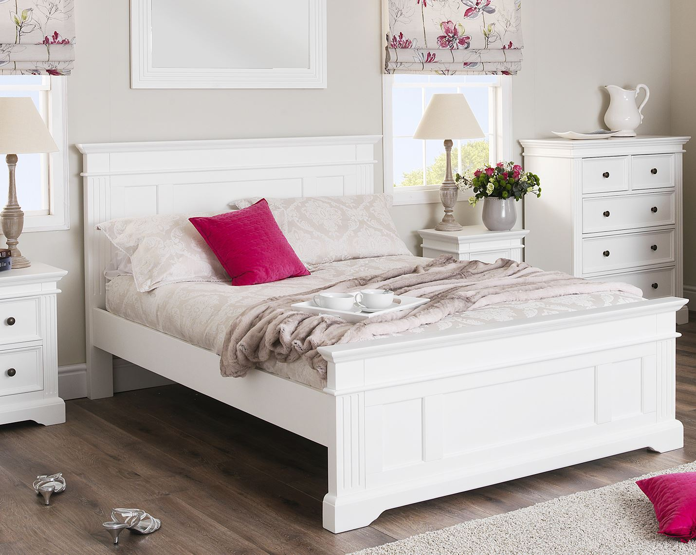 Bed furniture with drawers - Gainsborough White Bedroom Furniture Bedside Cabinets Chest Of Drawers Wardrobe Ebay
