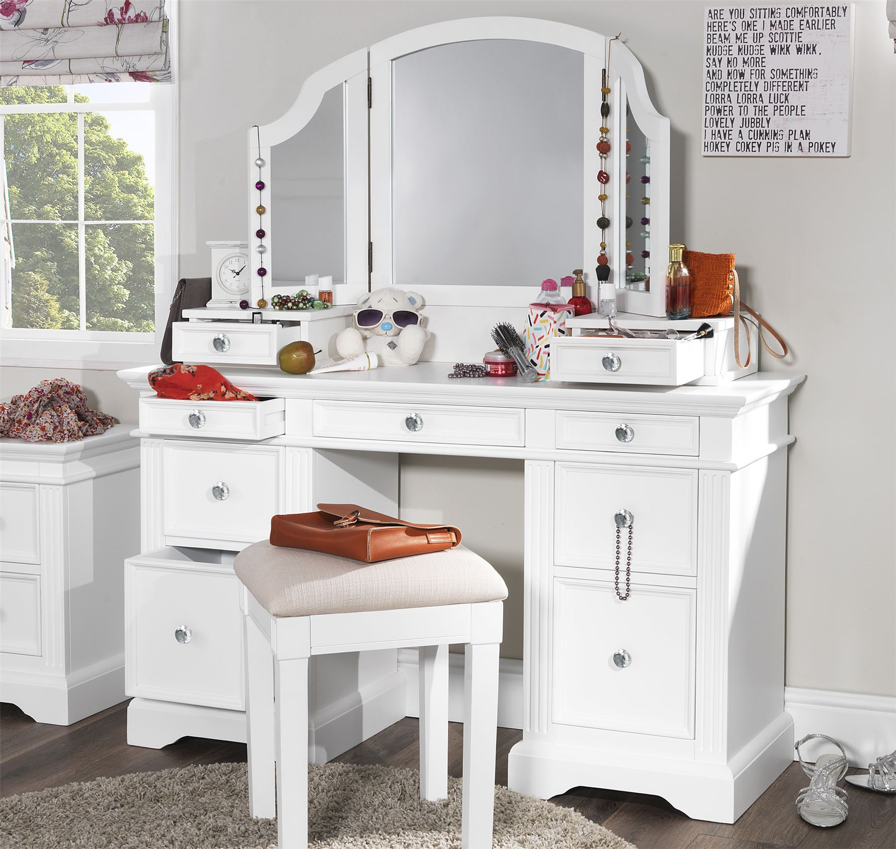 Gainsborough Dressing Table Set White Dressing Table Extension