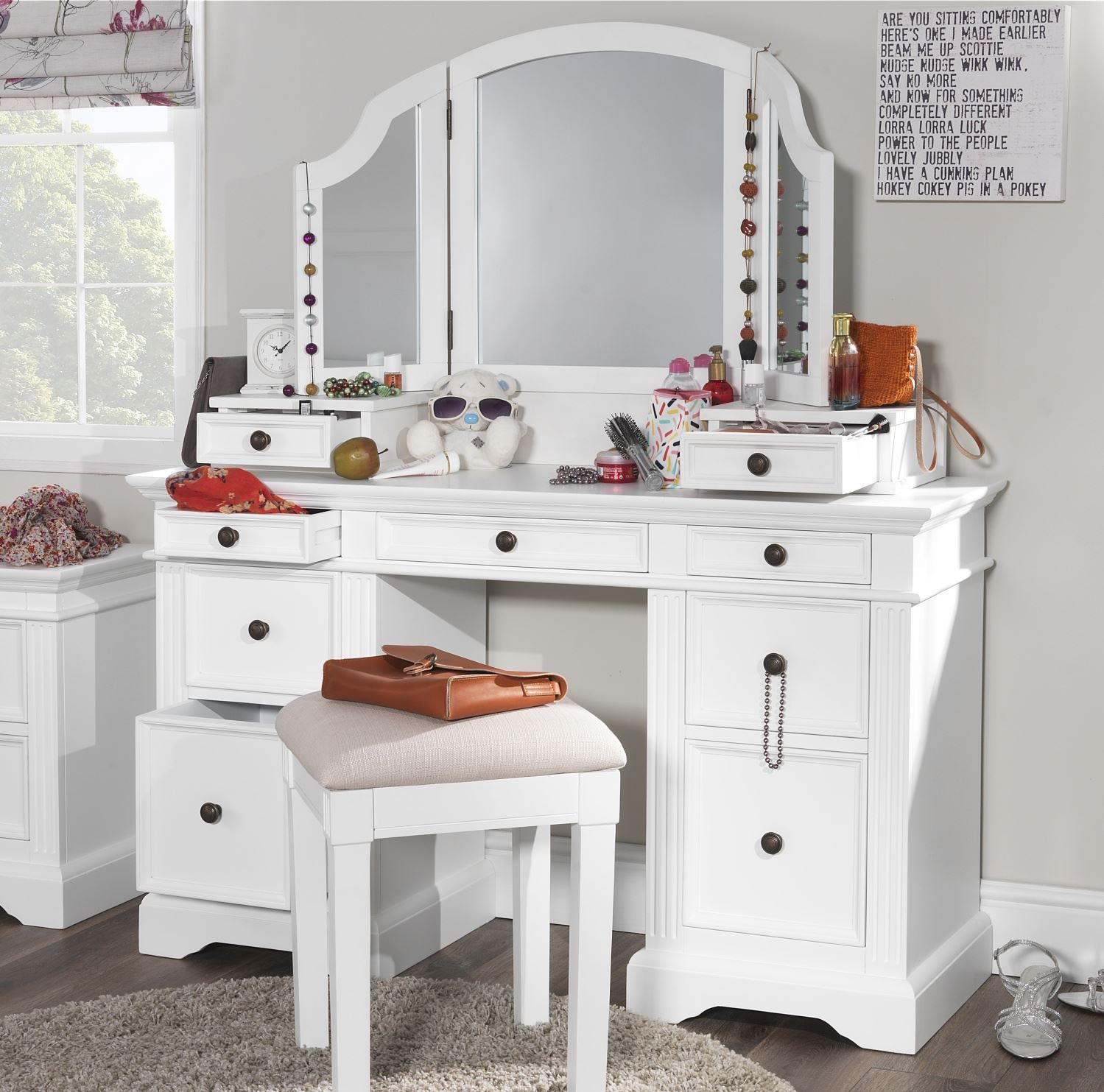 Gainsborough White Dressing Table Set Dressing Table Extension