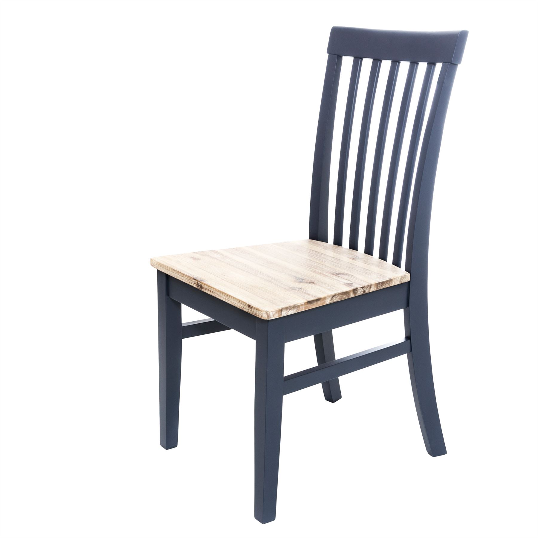 Details about Florence navy blue dining chair.Solid wood kitchen  chair,highback chair, QUALITY