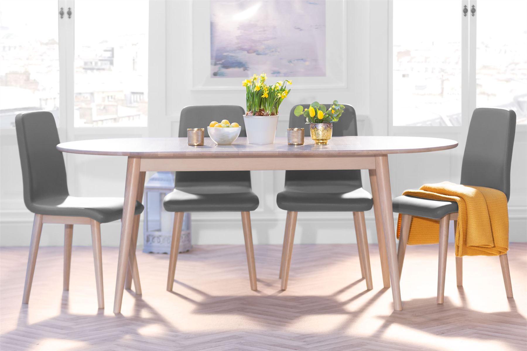 Edvard Olsen Large oval oak extending table. Extending ...