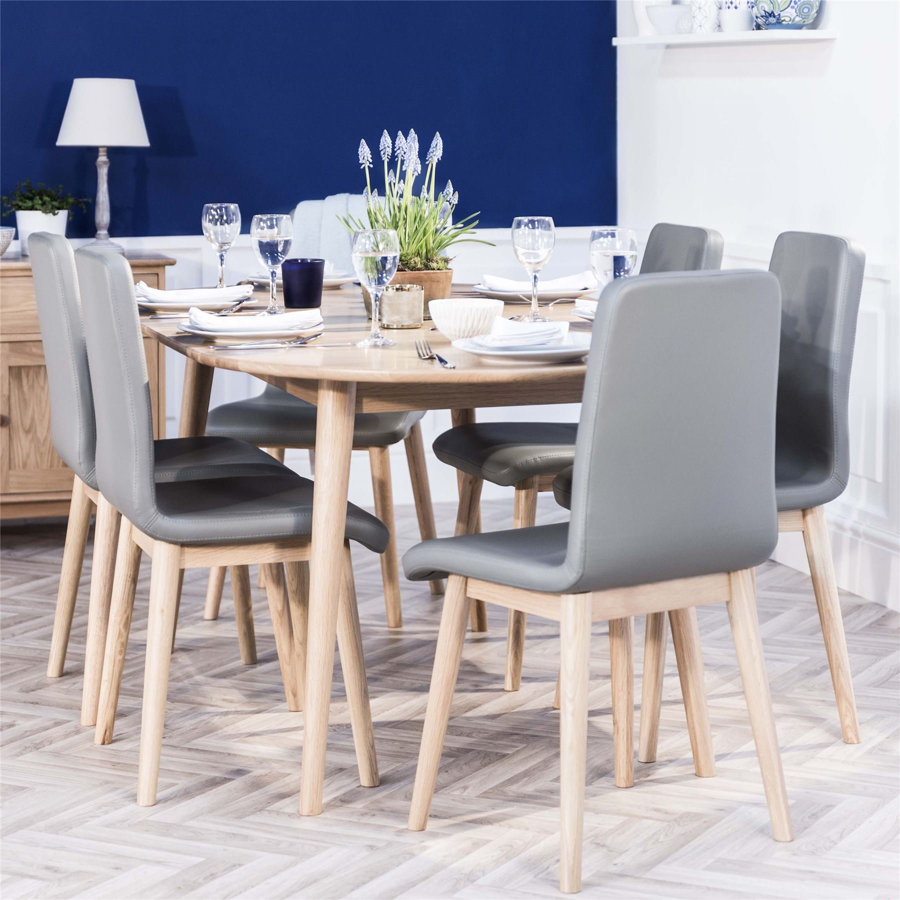 Edvard olsen oak kitchen dining table extending dining