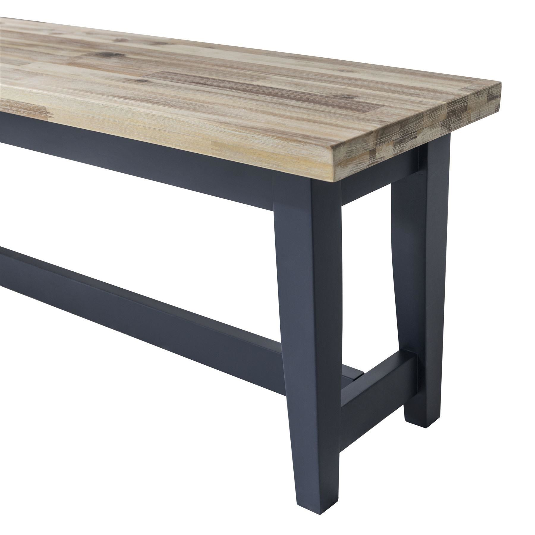 florence navy blue kitchen table bench solid wooden bench