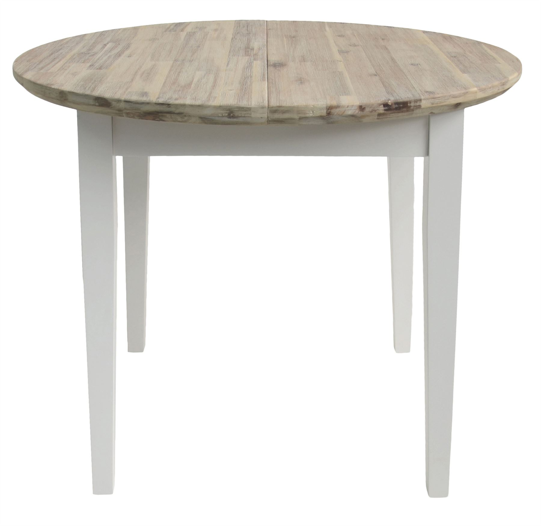 Details About Florence Round Extending Table 92 117cm, Kitchen Dining  Table,brushed Acacia Top
