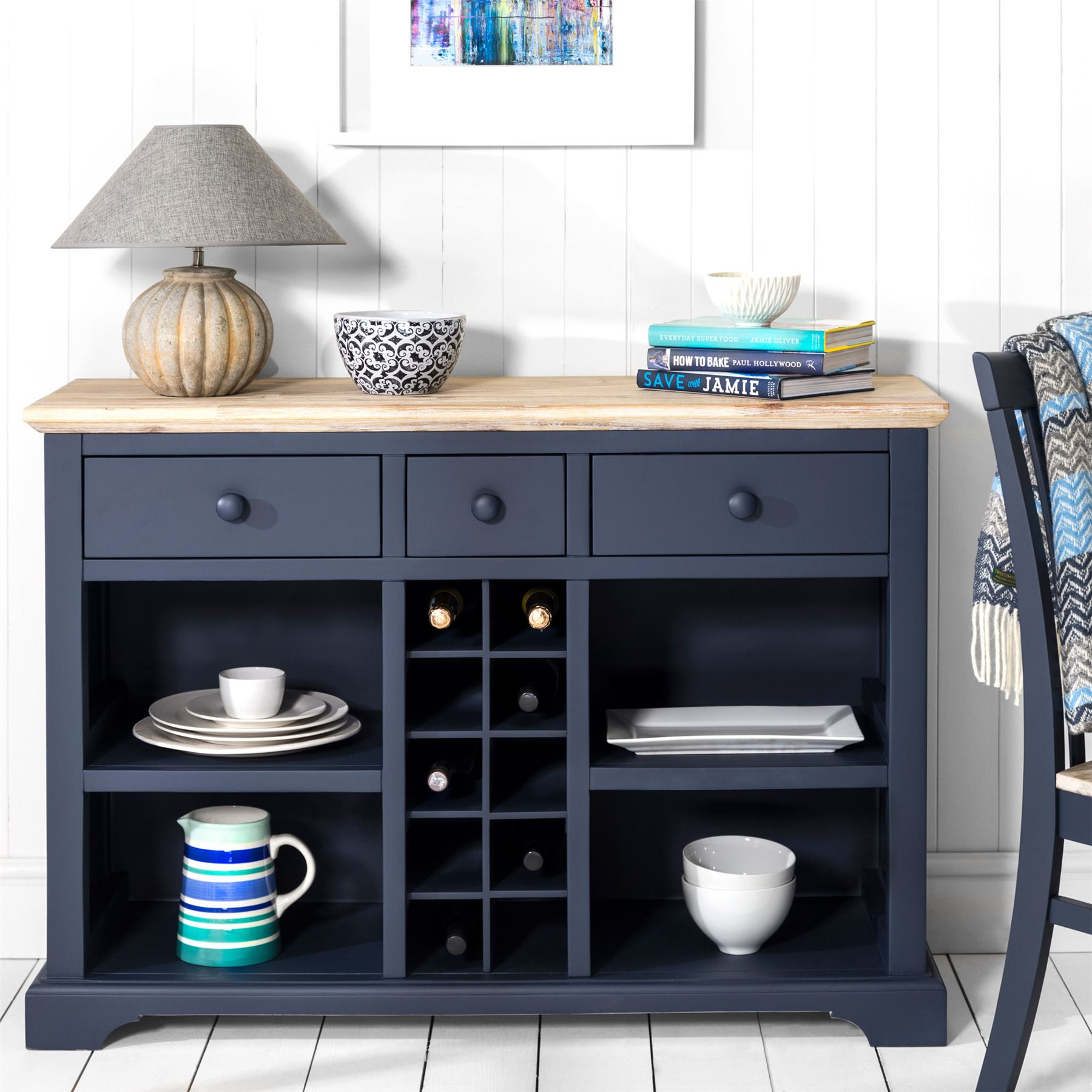 Florence Sideboard With Wine Rack Kitchen Sideboard And