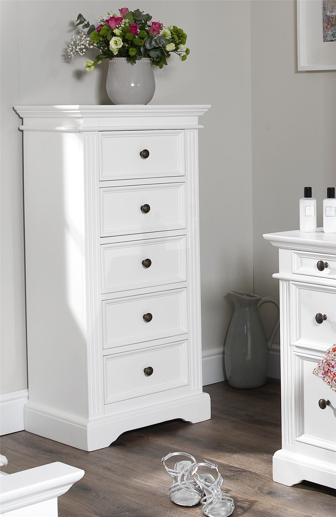 White Bedroom Furniture Uk gainsborough white bedroom furniture, bedside cabinets,chest of