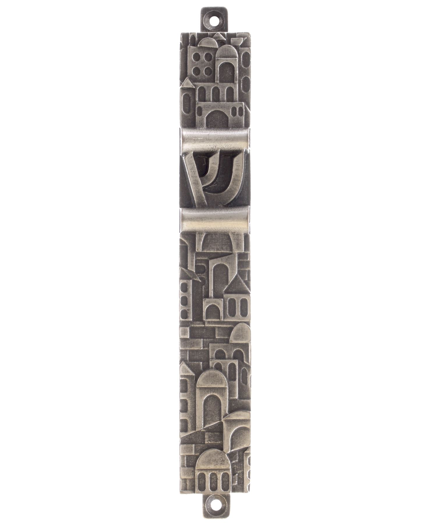 Pewter-Mezuzah-Case-Various-Designs-and-Sizes-Mezuza-Door-Keeper-Jewish-Scroll thumbnail 3