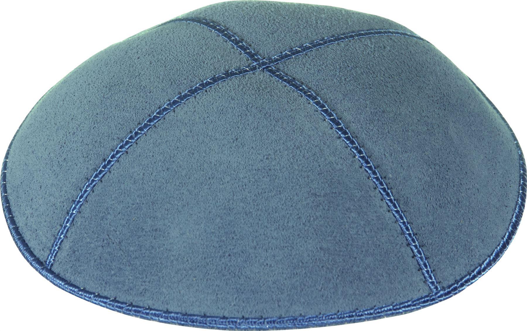 Plain genuine suede kippah with sections kippot yarmulke
