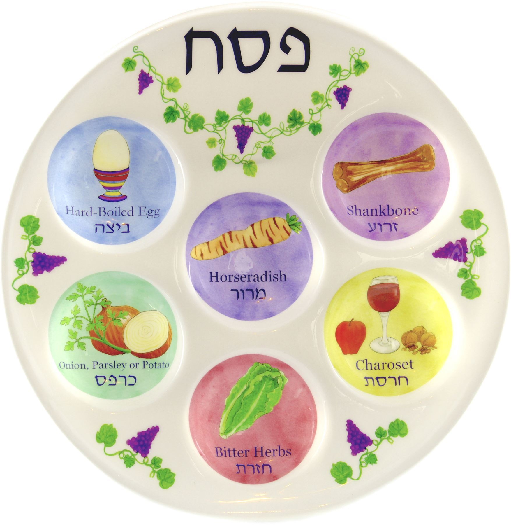 Disposable Plastic Seder Plate For Passover Jewish Kids Pesach