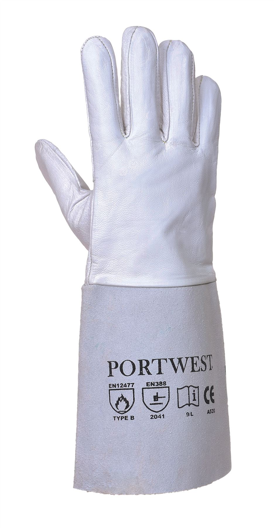 Leather work gloves for welding - Portwest Leather Tig Welders Gauntlet Work Gloves Welding