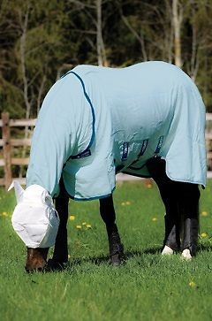 Horseware Rambo Fly Rug Sheet with Vamoose Insect Control FREE Fly Mask