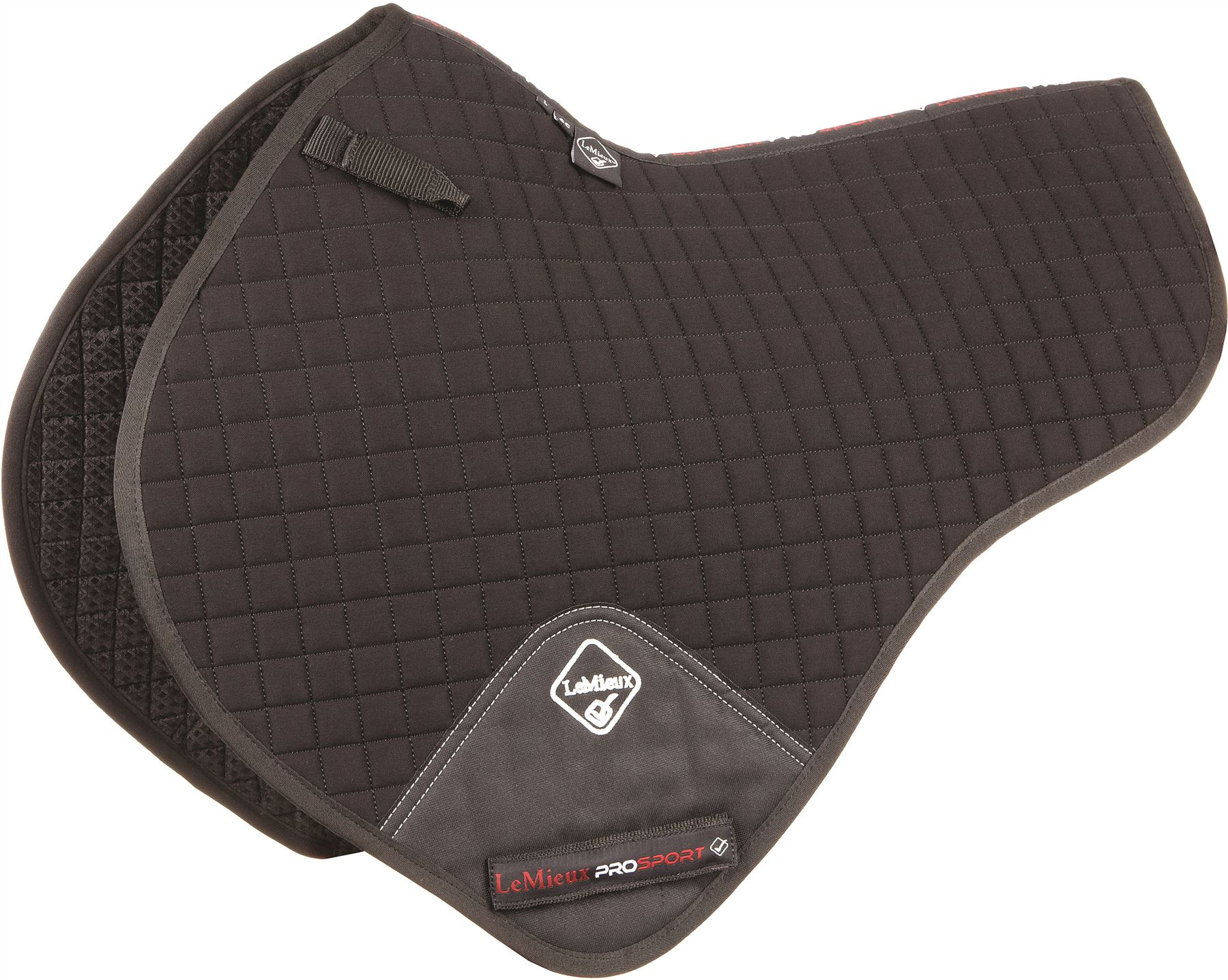 LeMieux ProSport Close Contact Half Pad Square (D-Ring) Saddle Pad Half Größe L 1499P aa5c0e