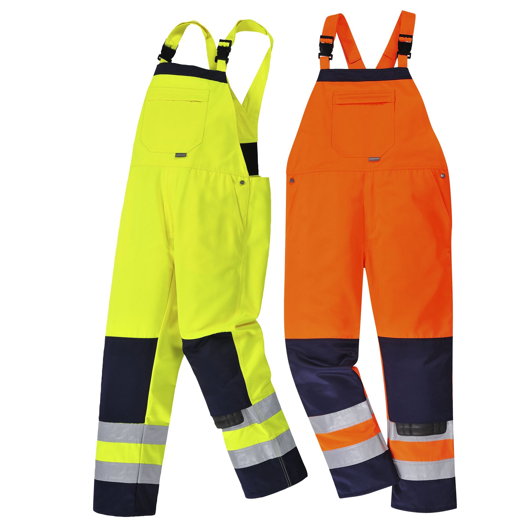 Portwest-Girona-Hi-Vis-Bib-amp-Brace-Workwear-Trouser-Pants-Coverall-Overalls-TX72