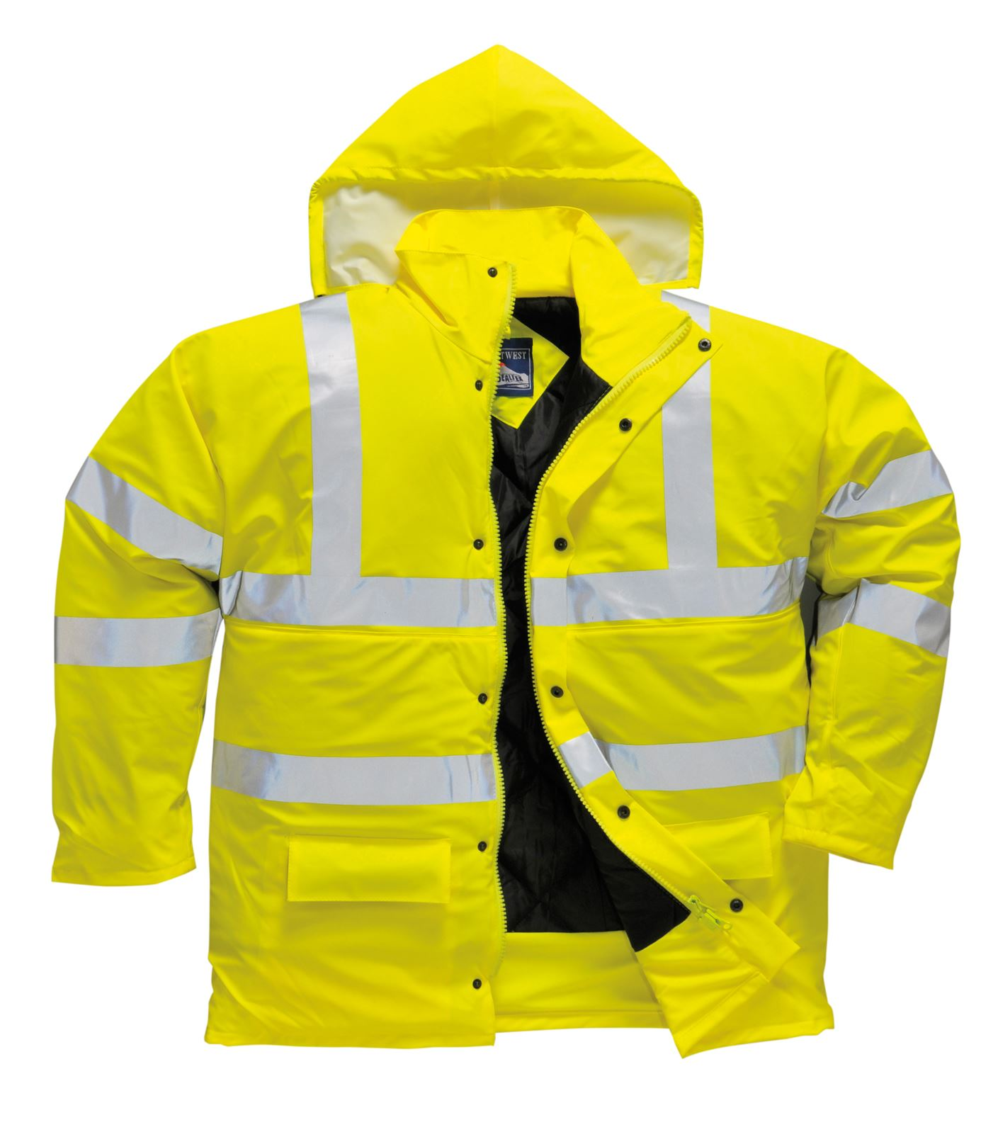 Ultra Jacket Yellow Coat Sealtex S490 Lined Visibility High Safety Hi Workwear Vis Eww1I