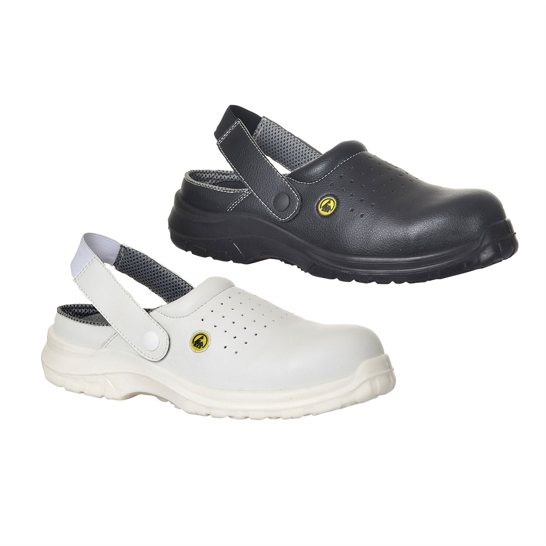 White half apron ebay - Portwest Esd Perforated Safety Clog Shoe Light Work Toe Cap Chef Baker Fc03