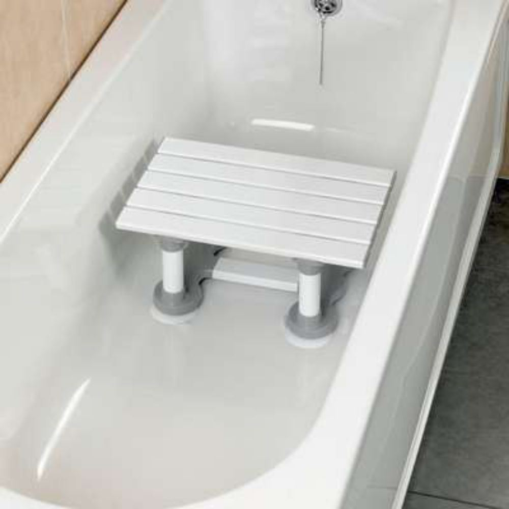 Savanah Slatted Bath Shower Seat Bathing Step Stool Secure Chair ...