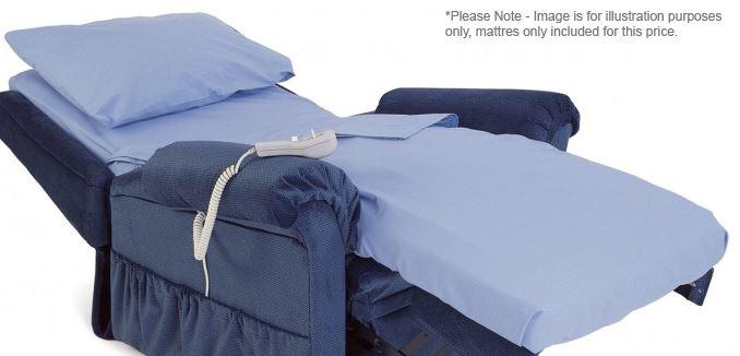 mattress for chair bed riser recliner comfort sleeping mobility | ebay