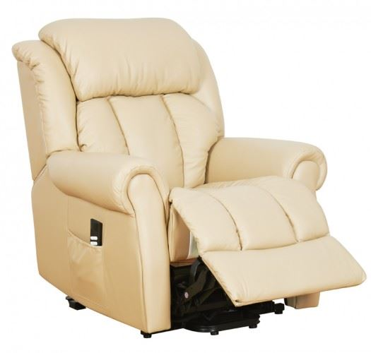 Warminster Dual Motor Leather Riser Recliner Chair Electric