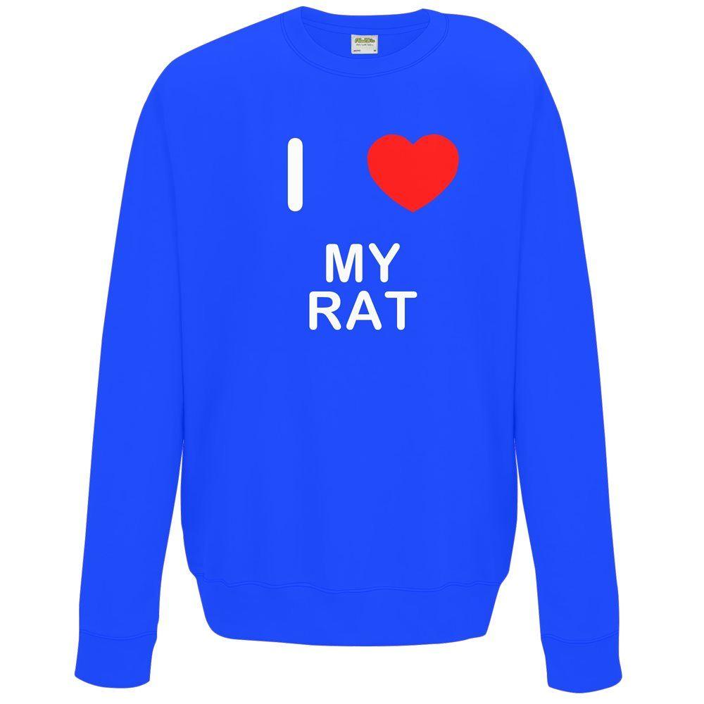 Il mio Ratto I Love-Felpa con Cappuccio