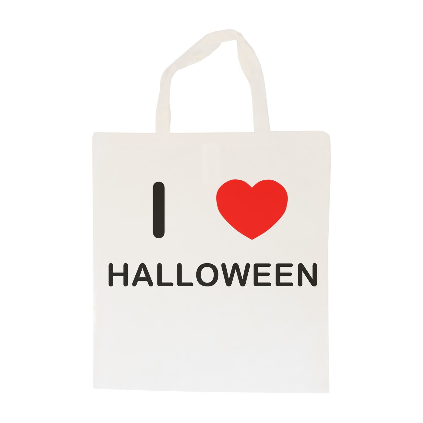 I Love Halloween - Cotton Bag | Size choice Tote, Shopper or Sling