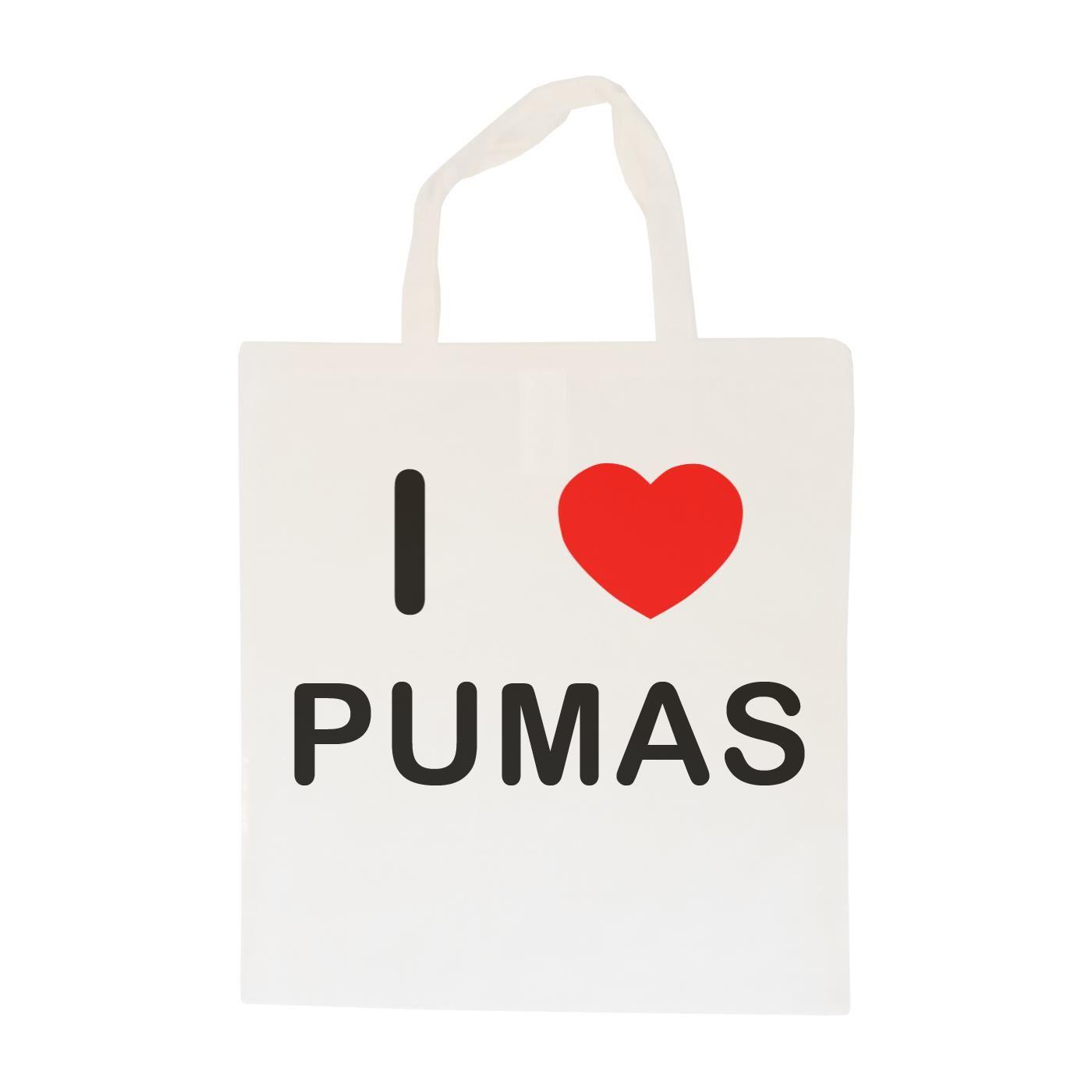 I Love Pumas - Cotton Bag | Size choice Tote, Shopper or Sling