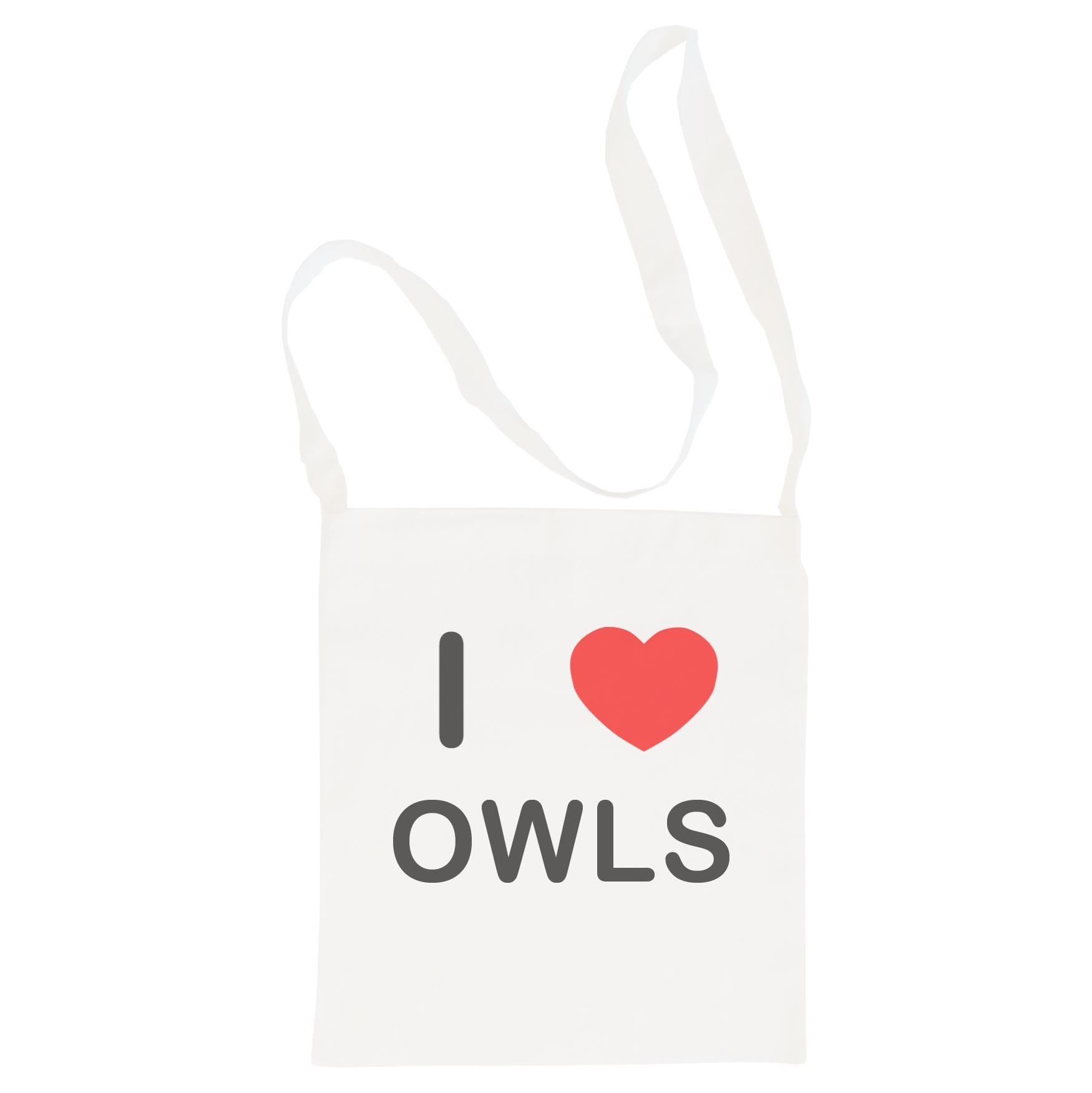 I Love Owls - Cotton Bag | Size choice Tote, Shopper or Sling