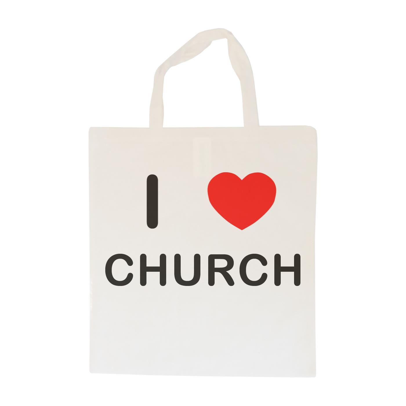 I Love Church - Cotton Bag | Size choice Tote, Shopper or Sling