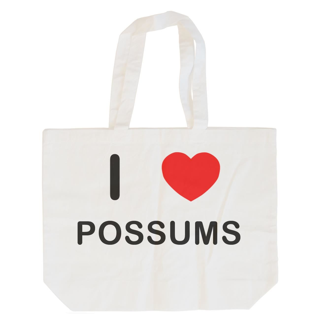 I Love Possums - Cotton Bag | Size choice Tote, Shopper or Sling
