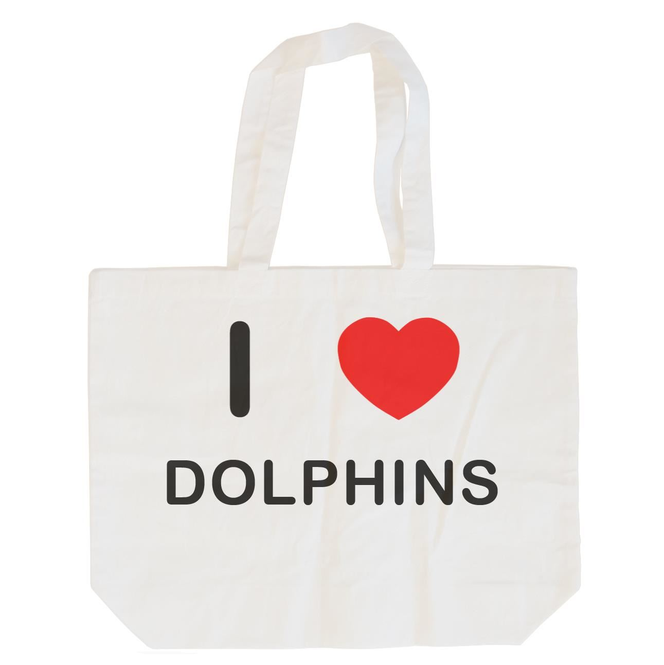 I Love Dolphins - Cotton Bag | Size choice Tote, Shopper or Sling