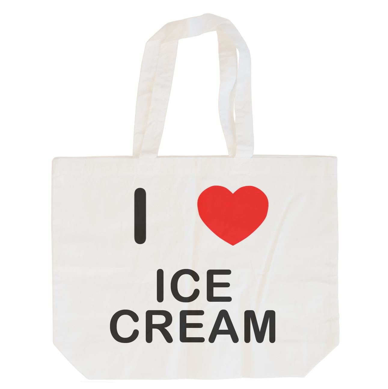 I Love Ice Cream - Cotton Bag | Size choice Tote, Shopper or Sling