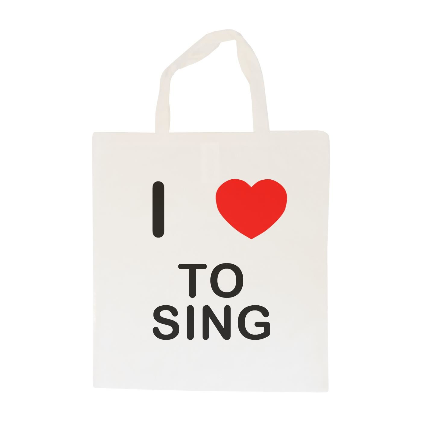 I Love To Sing - Cotton Bag | Size choice Tote, Shopper or Sling
