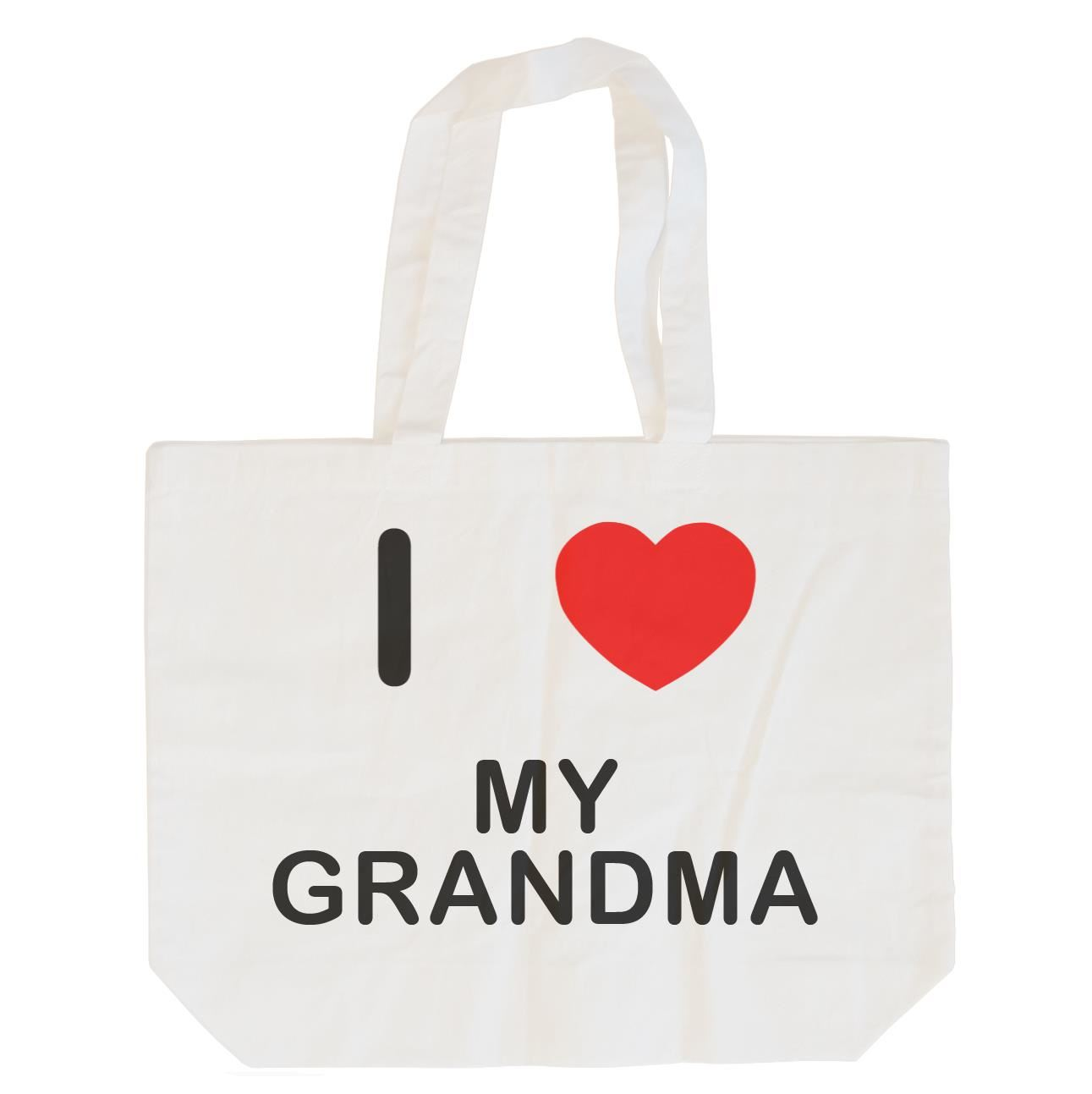 I Love My Grandma - Cotton Bag | Size choice Tote, Shopper or Sling