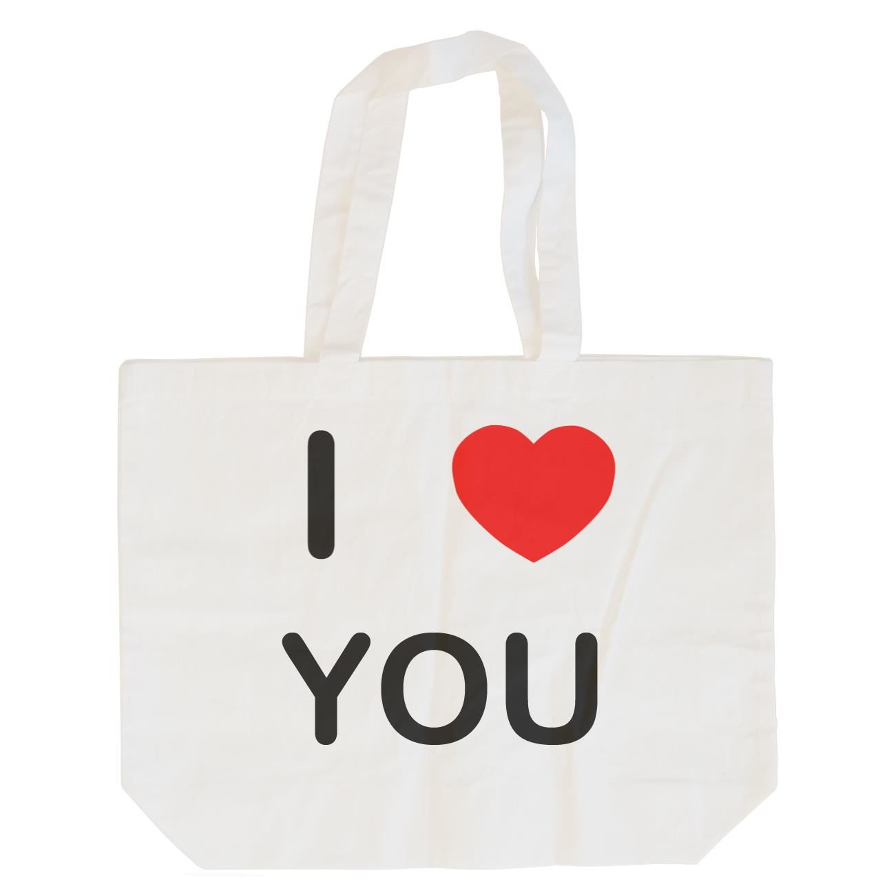 I Love You - Cotton Bag | Size choice Tote, Shopper or Sling
