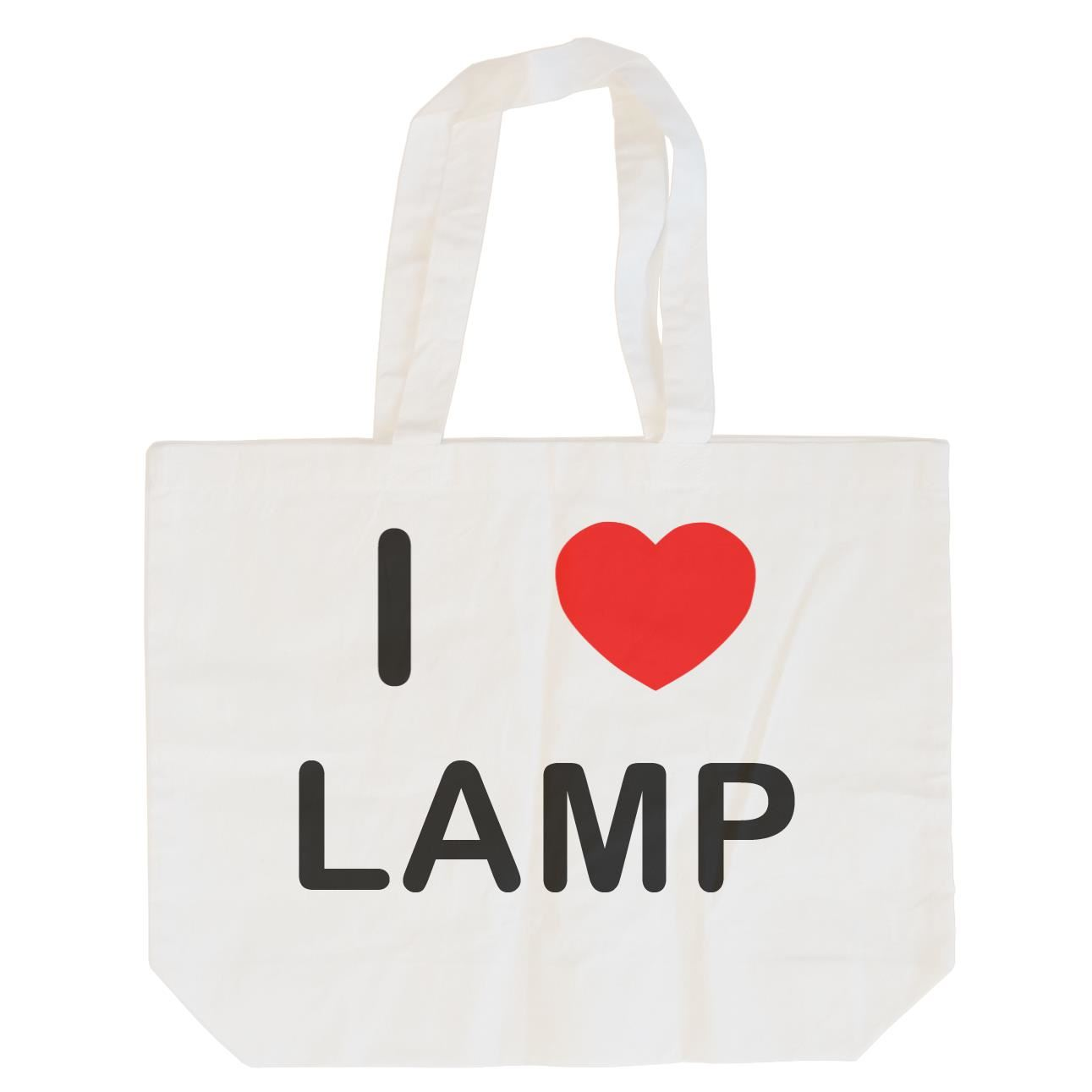 I Love Lamp - Cotton Bag | Size choice Tote, Shopper or Sling