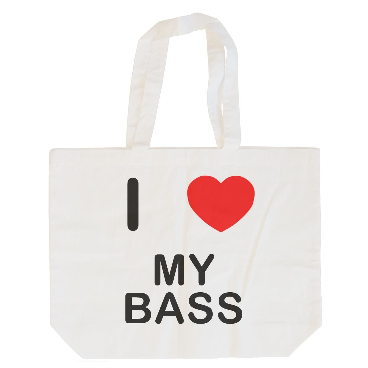 I Love My Bass - Cotton Bag | Size choice Tote, Shopper or Sling