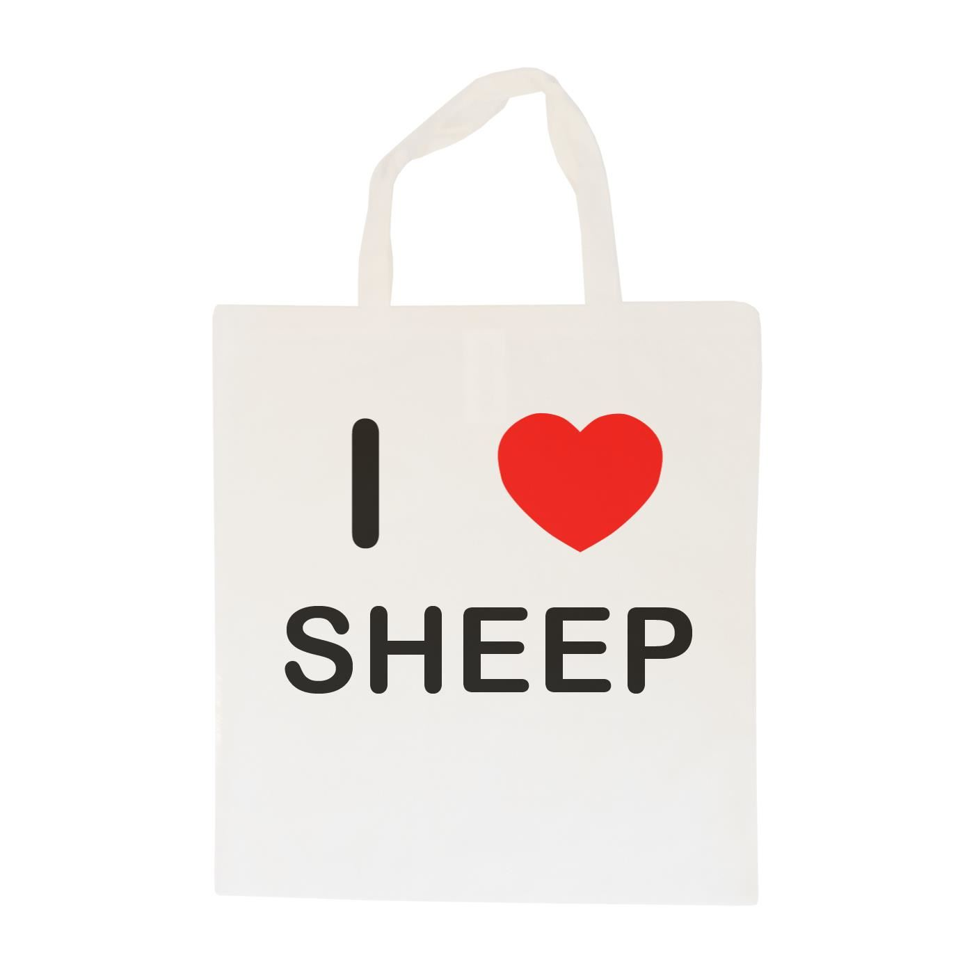 I Love Sheep - Cotton Bag | Size choice Tote, Shopper or Sling