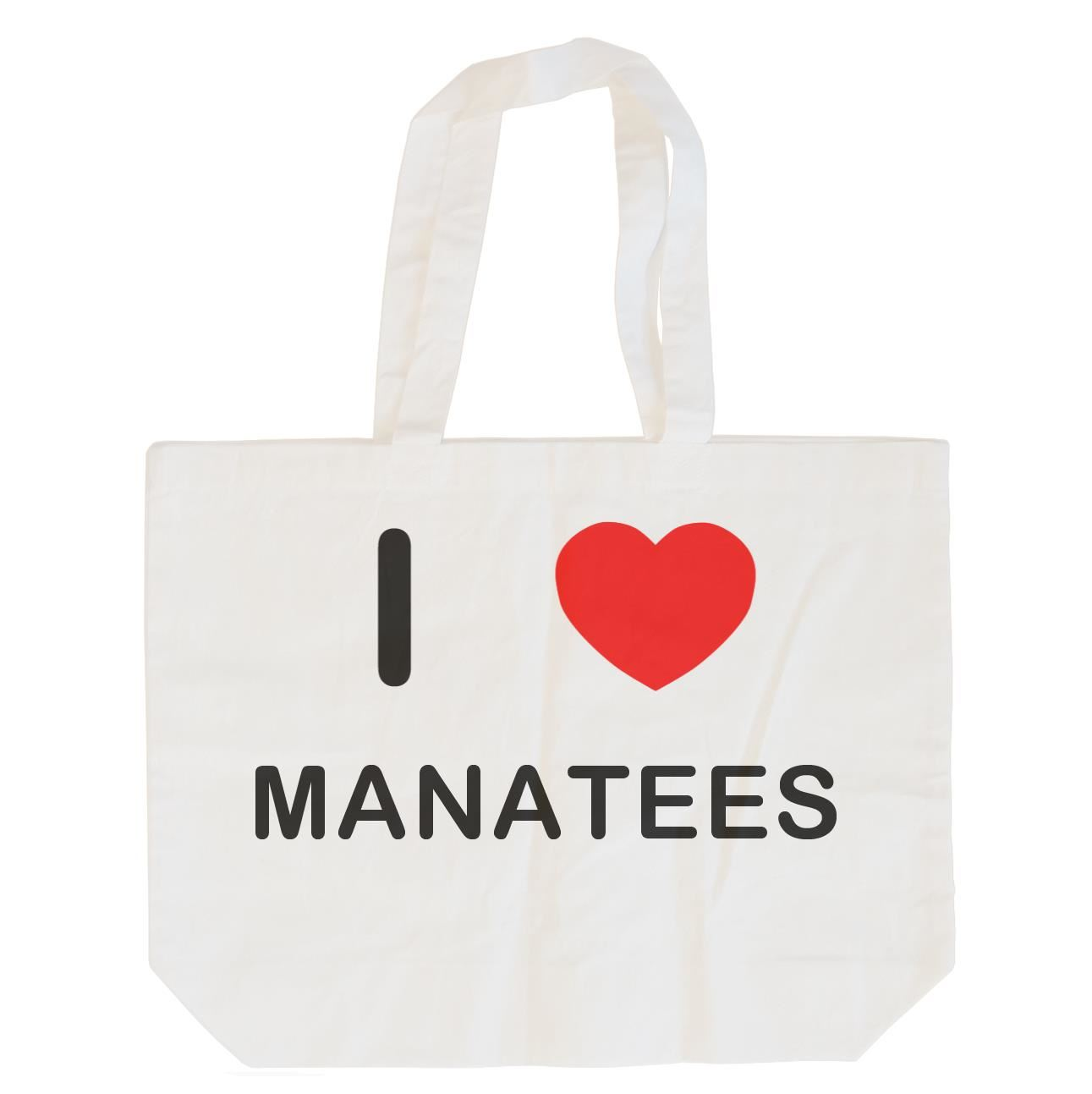 I Love Manatees - Cotton Bag | Size choice Tote, Shopper or Sling