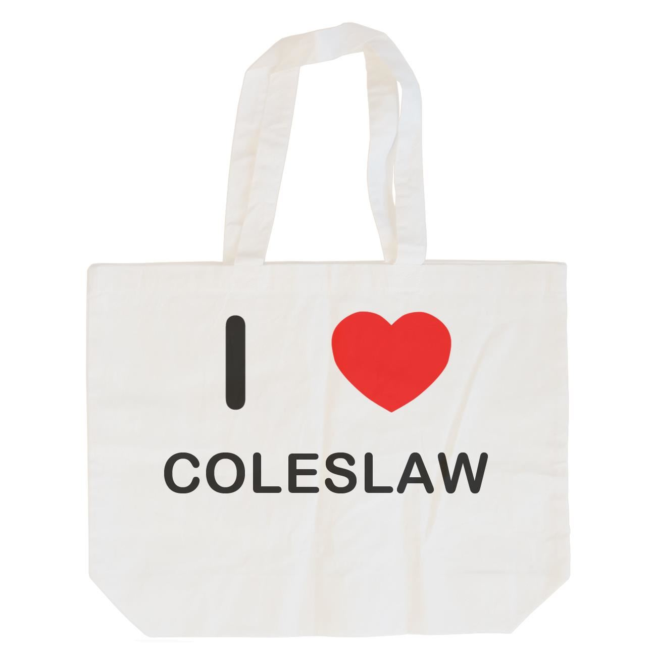 I Love Coleslaw - Cotton Bag | Size choice Tote, Shopper or Sling