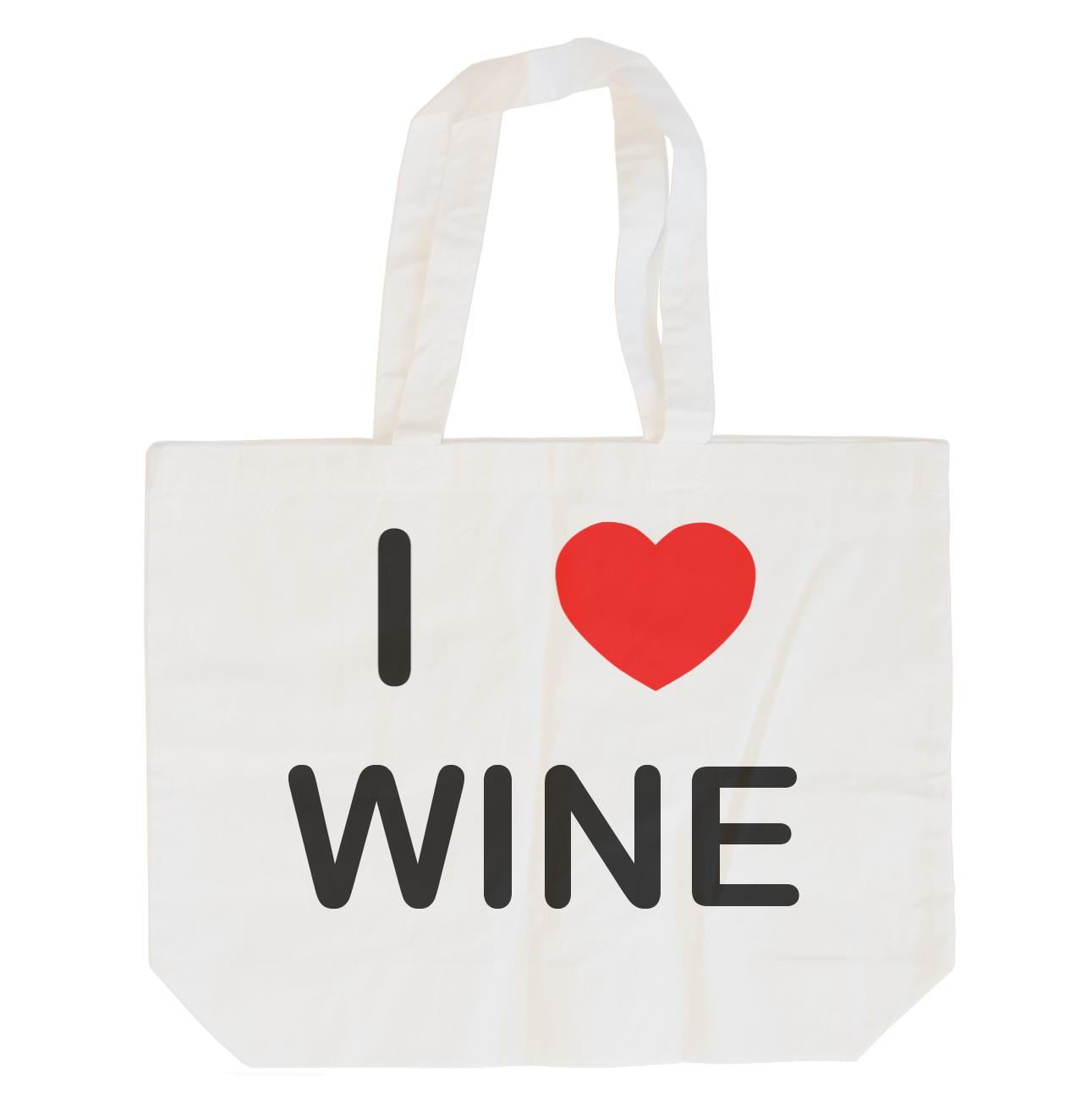 I Love Wine - Cotton Bag | Size choice Tote, Shopper or Sling