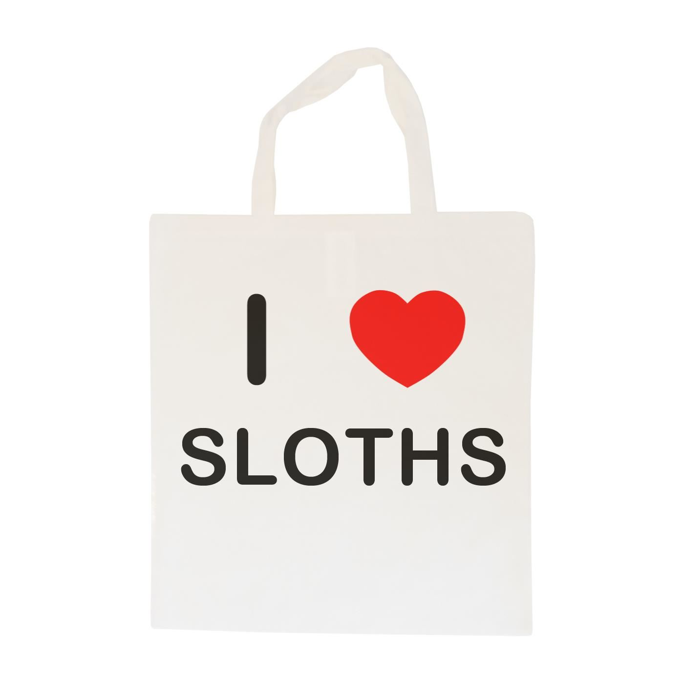 I Love Sloths - Cotton Bag | Size choice Tote, Shopper or Sling
