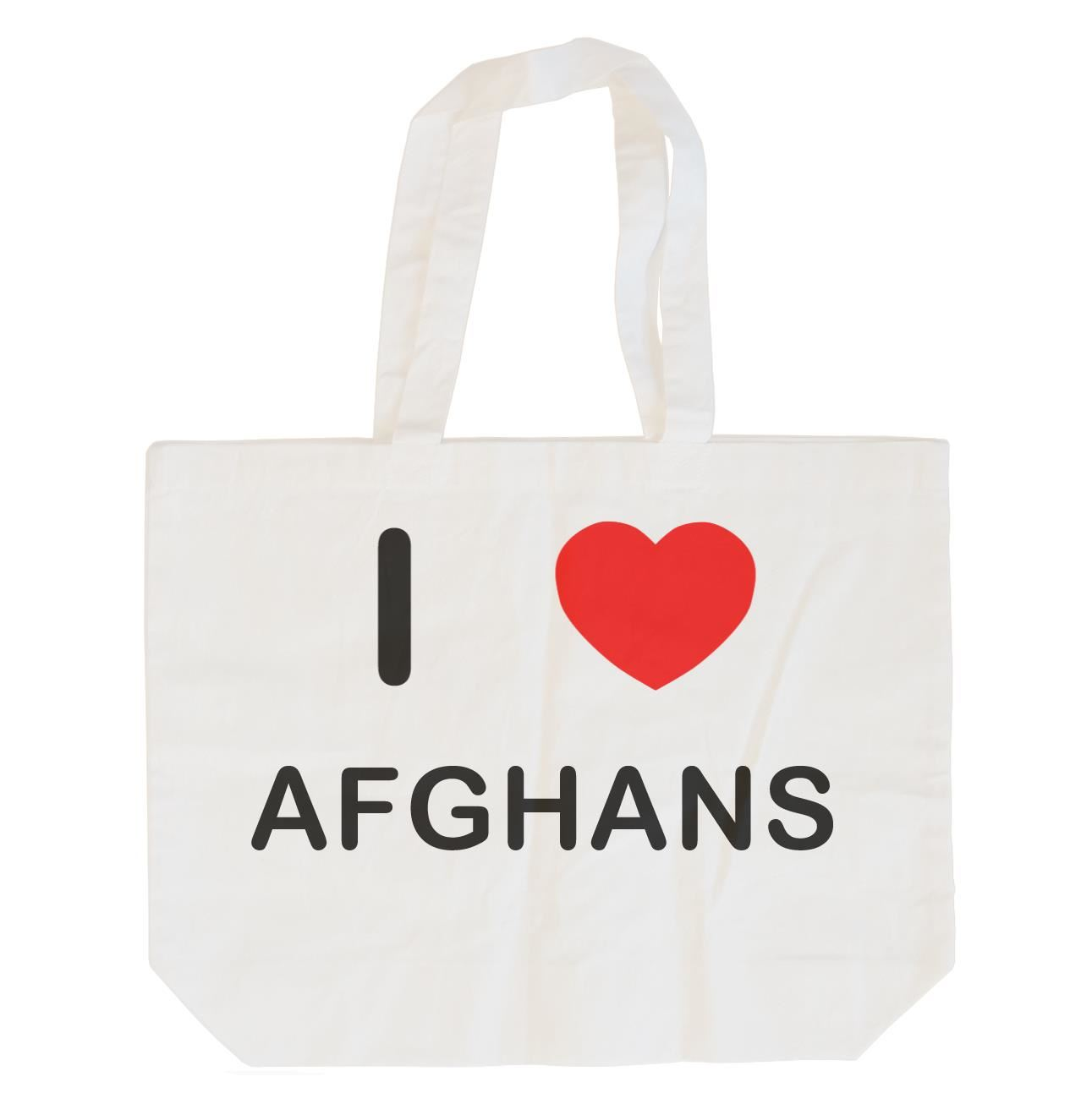 I Love Afghans - Cotton Bag | Size choice Tote, Shopper or Sling
